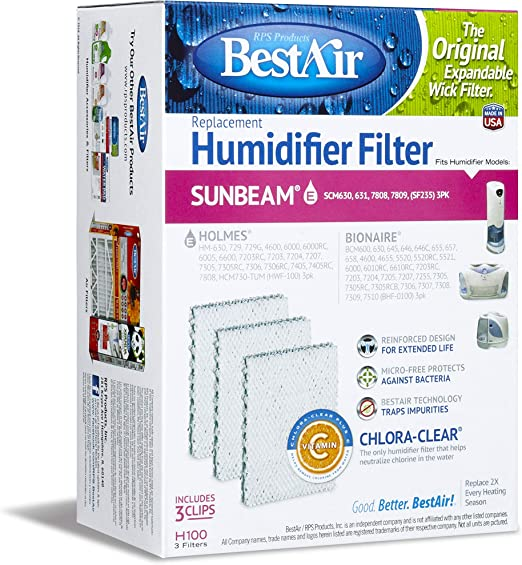 BestAir Extended Life Humidifier Wick Filter H100-6