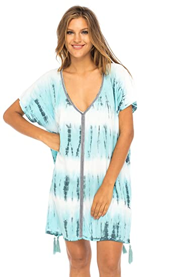 35c75369a15 Back From Bali Womens Swimsuit Cover up Bathing Suit Bikini Swimwear Cover  Boho Striped Beach Tunic Marine: Amazon.co.uk: Clothing