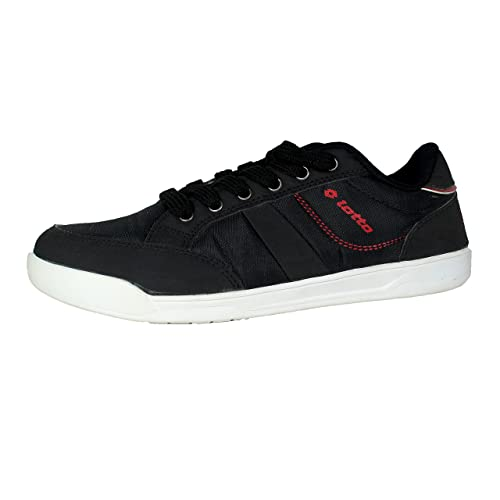 Lotto Men Slice Black/Red Leisure Shoes 7 UK/India