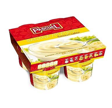 Pascual Yogur Sabor Plátano - Paquete de 4 x 125 gr - Total: 500 gr