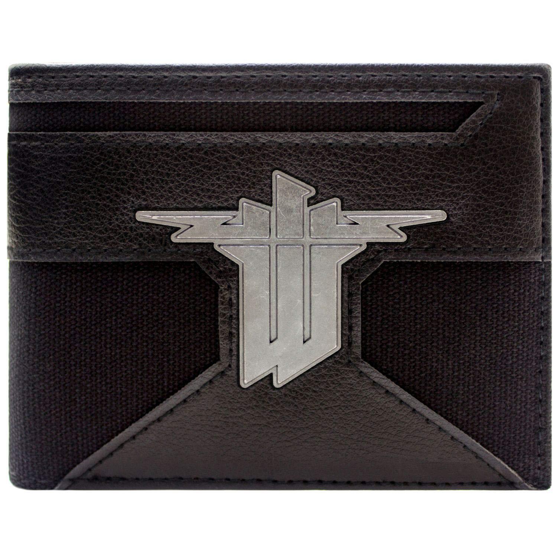 Wolfenstein II The New Colossus Badge Argent Noir Portefeuille