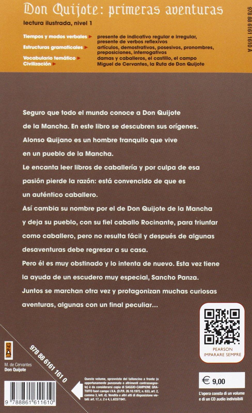 Don Quijote: primeras aventuras. Con CD Audio: Amazon.es: Miguel de Cervantes, L. Pilar Garcia: Libros