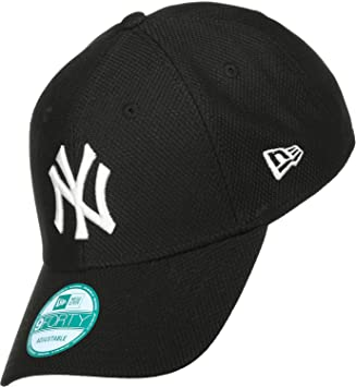 New Era Diamond ESS 9Forty Adjustables NY Yankees Schwarz Weiß 25eba1ac596