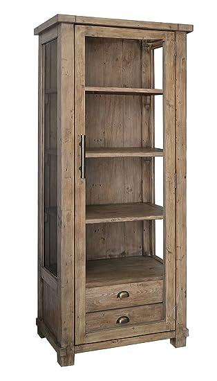 The Wood Times Vitrinenschrank Landhaus Massiv Industrial Vintage ...