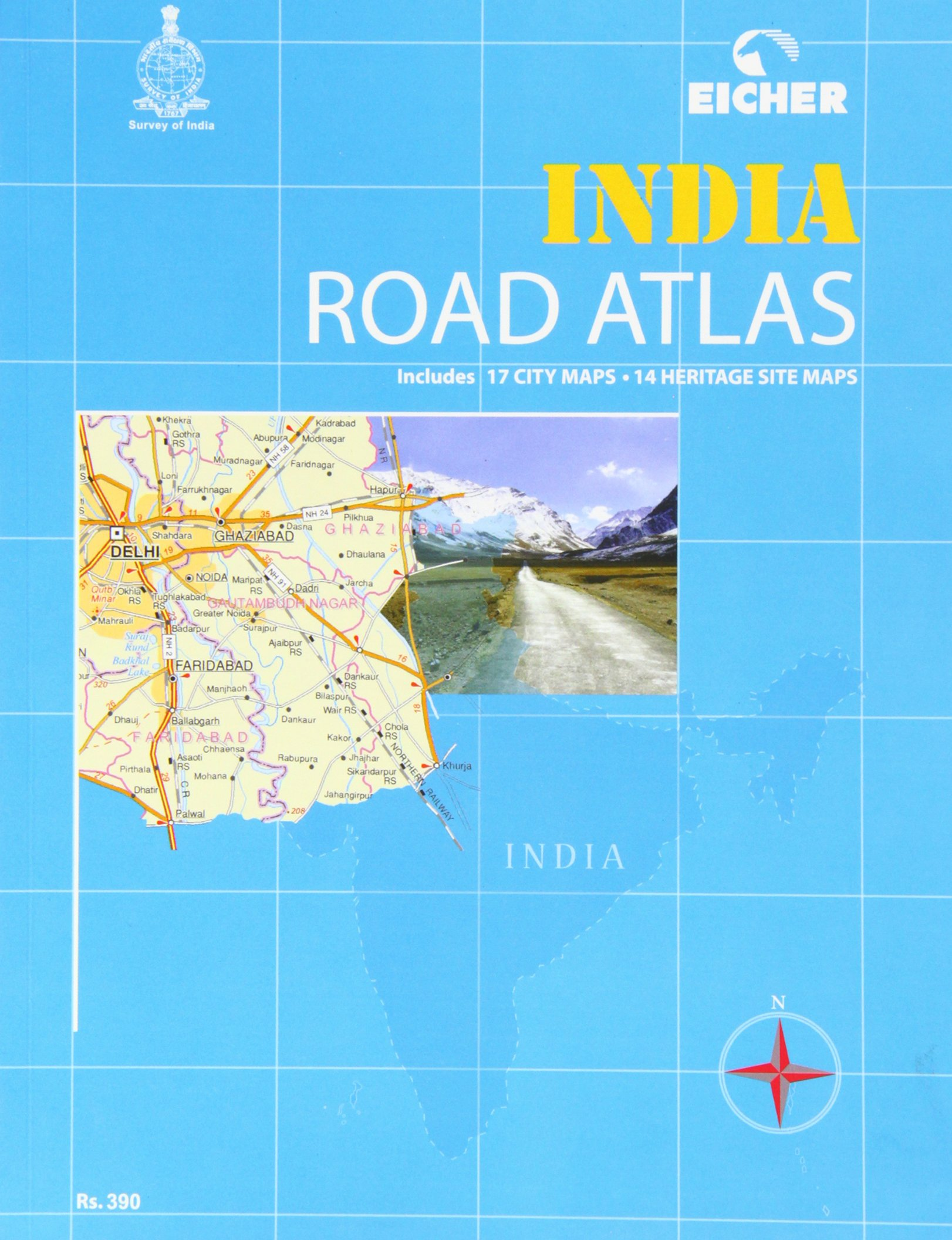 Amazon In Buy Eicher India Road Atlas Book Online At Low Prices In