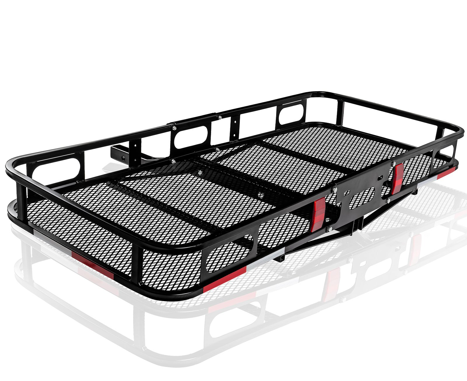 OxGord Universal Auto Steel Rear Hitch Mount Carrier Basket for Cars/Trucks/SUV - Max Capacity of 500Lbs by OxGord