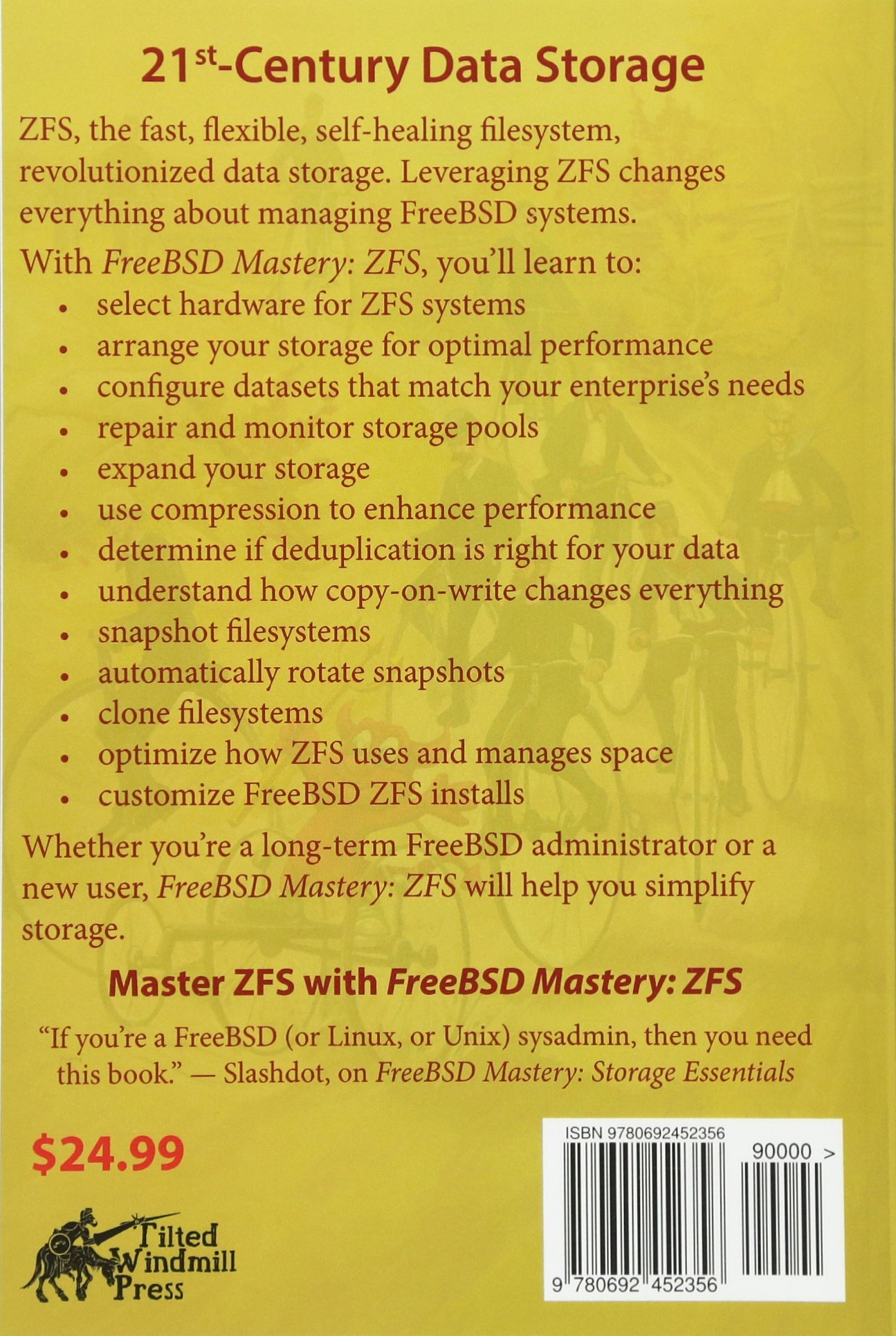 Amazon com: FreeBSD Mastery: ZFS (IT Mastery) (Volume 7
