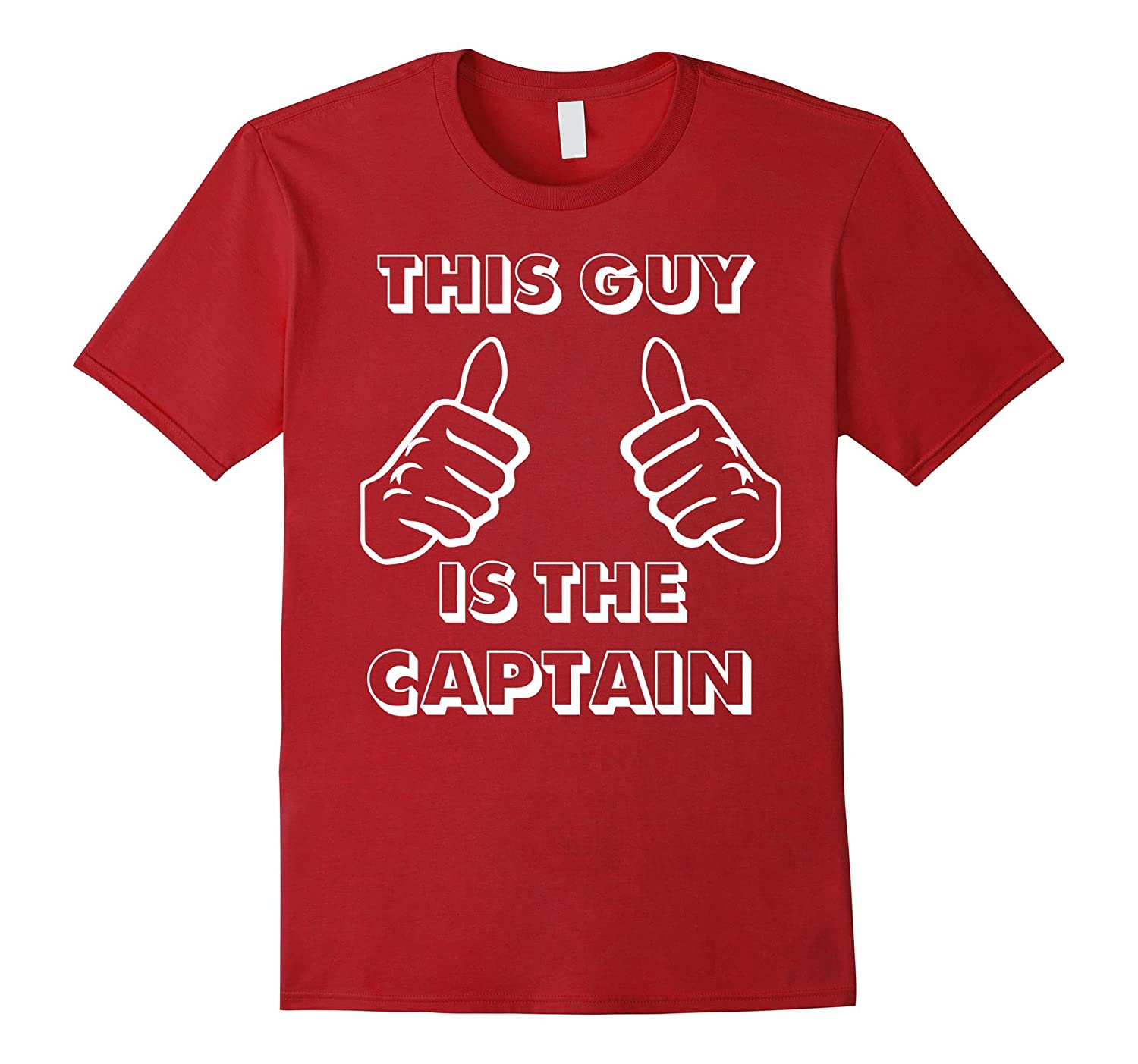 """""""This Guy is the Captain"""" Boat Boss Gift T Shirt"""