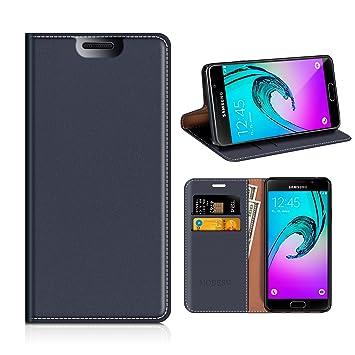 MOBESV Funda Cartera Samsung Galaxy A3 2016, Funda Cuero Movil Samsung A3 2016 Carcasa Case con Billetera/Soporte para Samsung Galaxy A3 2016 - Azul ...