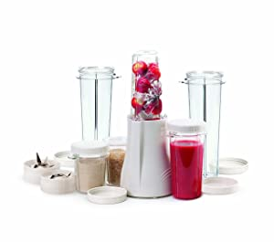 Tribest PB-250XL-A Personal Blender Complete Blender and Grinder Package with X-Large Cups, White