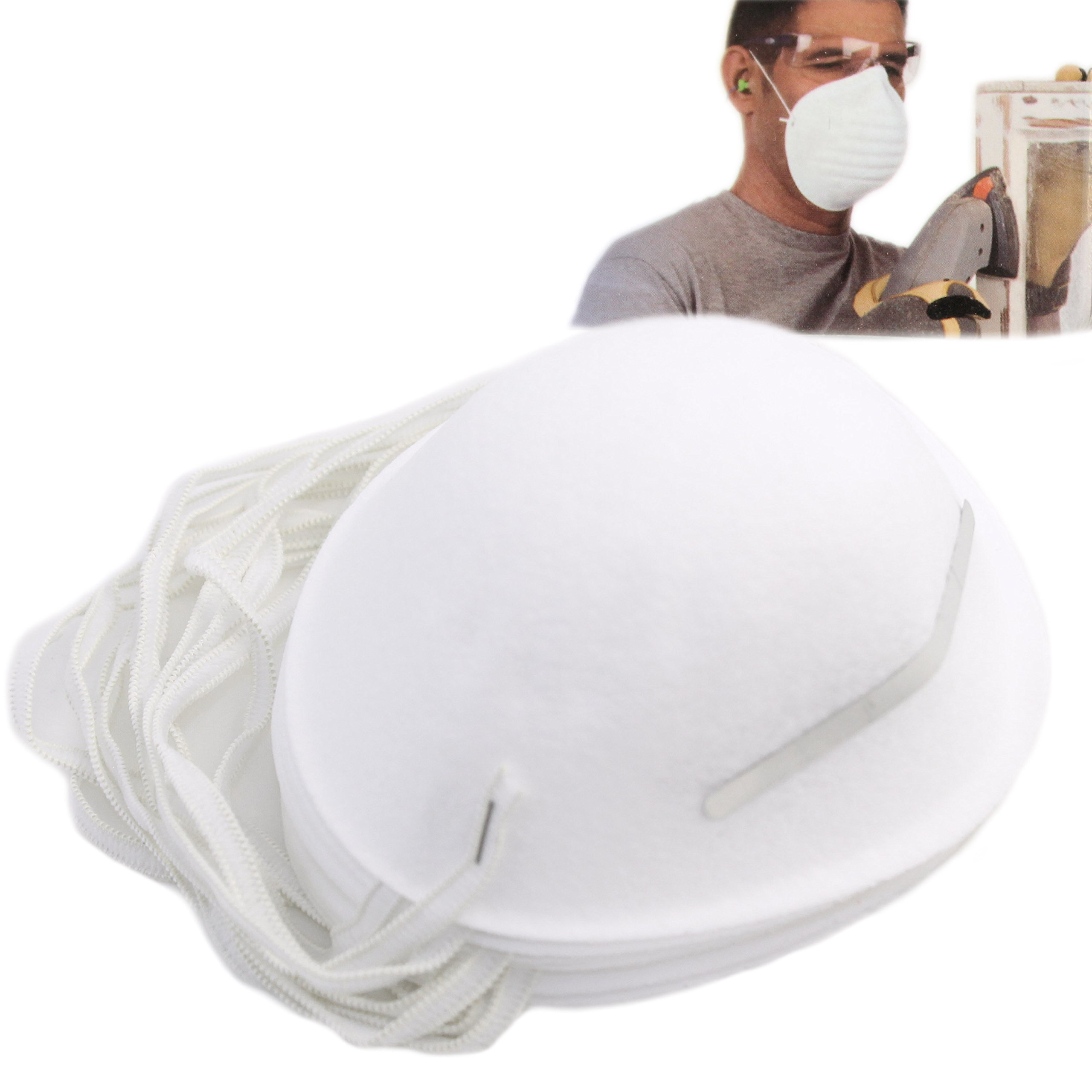 Pack of 30 Disposable Dust Masks with Nose Clip by Homestyle Essentials