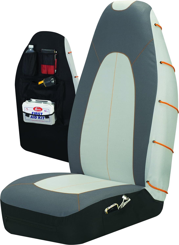 Auto Expressions 804661 Grey//Orange X-Line Universal Bucket Seat Cover