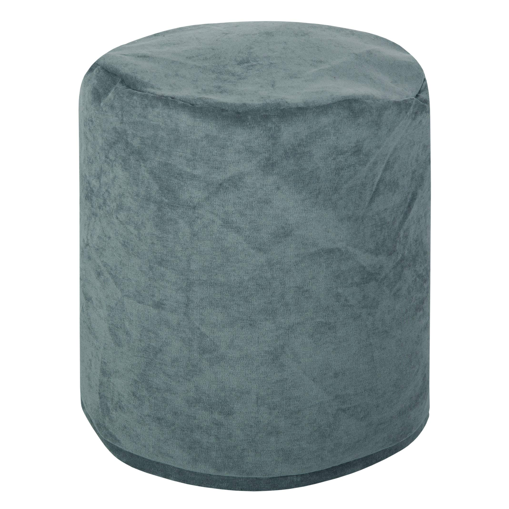 Majestic Home Goods Azure Villa Indoor Bean Bag Ottoman Pouf  16'' L x 16'' W x 17'' H by Majestic Home Goods