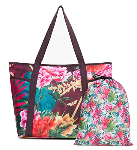 Desigual Tropic Carry Shoulder Bag Raspberry Bis zkVWY