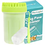 Upgrade 2 in1 Dog Paw Cleaner & Pet Grooming Brush - Portable Pet Paw Cleaner with Towel,Soft Silicone Dog Foot Washer…