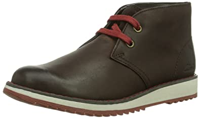 Brand New Kids Clarks Boots Fleet Style in brown leather