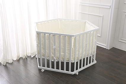 fixi Master Baby Parque Parque de 6 rectangular color blanco Incluye Colchón, bettwäche refuerzo Protector
