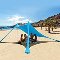 RESVIN Pop Up Beach Tent Sun Shelter UPF50+ Portable Lightweight Beach Sunshade, Outdoor Family Camping Fishing Picnics…
