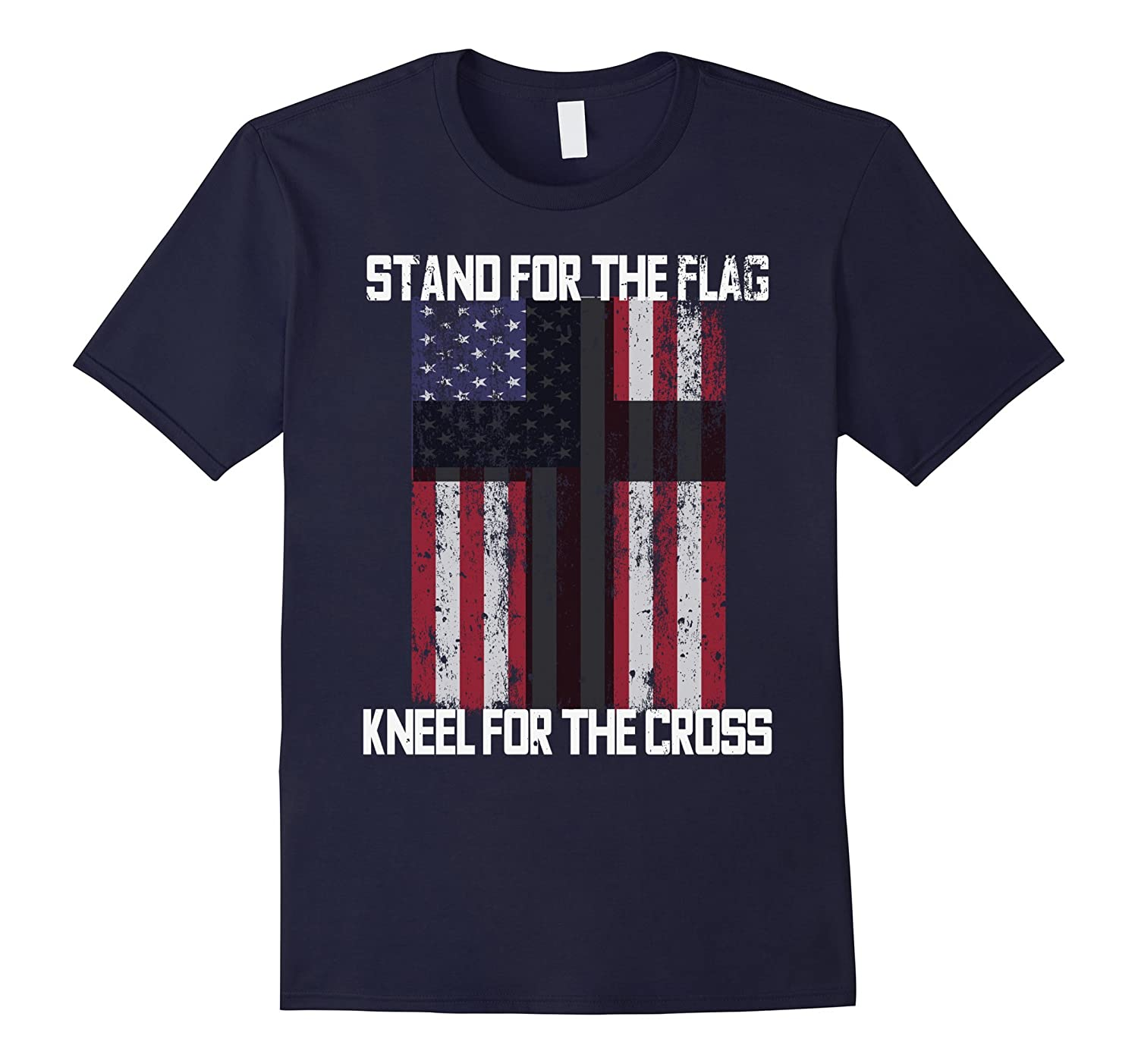AMERICAN FLAG CROSS PATRIOTIC USA CHRISTIAN GOD T-SHIRT-BN