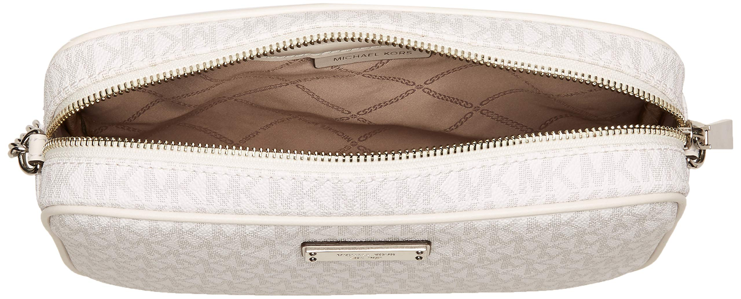Michael Kors Signature Jet Set Item Large East West Crossbody BRIGHT WHITE