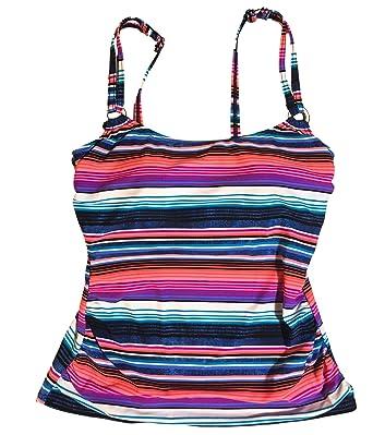 dff19b0753015 Croft   Barrow Swimwear D-Cup Tankini Top Multi Pink Stripes (6 ...