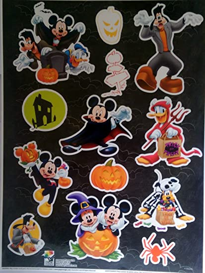 disney mickey mouse halloween window clings mickey donald duck goofy and pluto