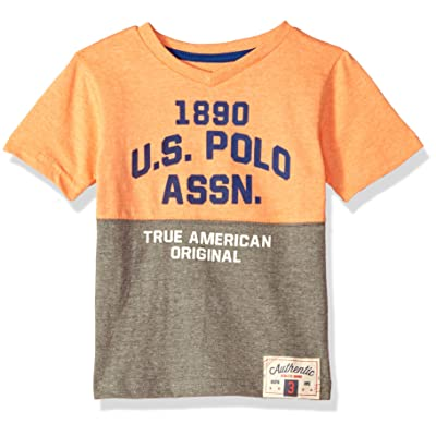 U.S. Polo Assn. Boys' Short Sleeve Fancy V-Neck T-Shirt