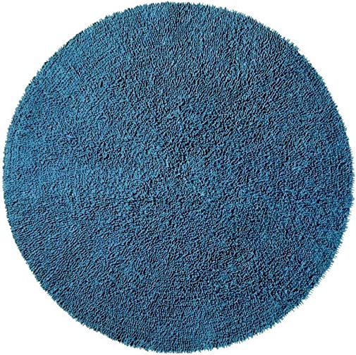 ST. CROIX TRADING Shagadelic Chenille Collection Blue Twist Rug