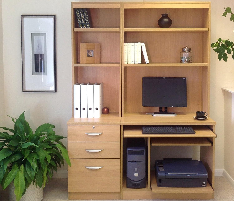 Home Office Furniture Uk Computer Table Workstation Desk Hutch Book