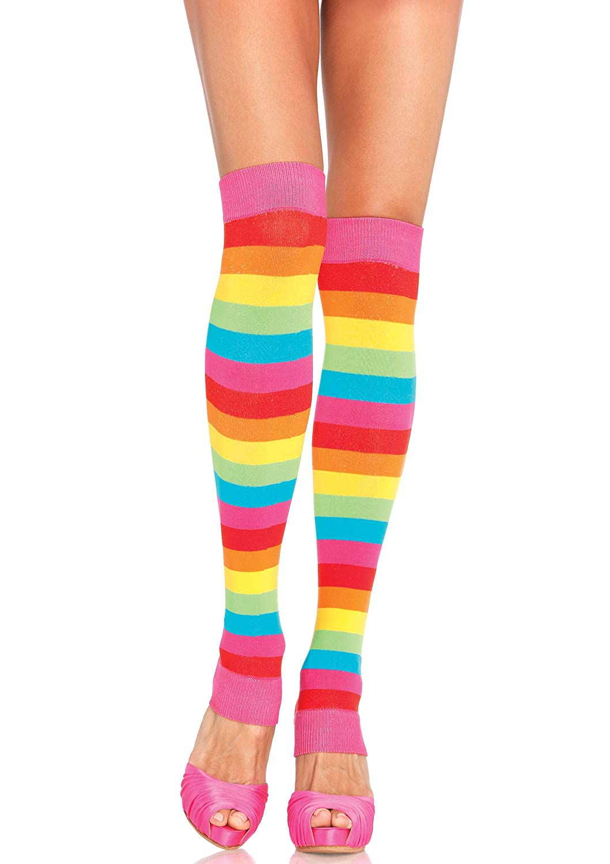 8c289976ad81d Amazon.com: Leg Avenue Womens Rainbow Leg Warmers: Lingerie Sets: Clothing