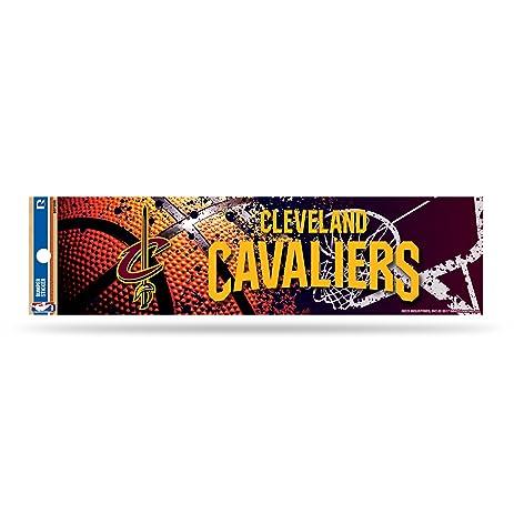 Nba cleveland cavaliers bumper sticker wine gold 11 inch by 3
