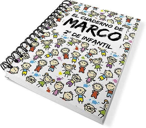 LolaPix Cuaderno Vuelta al Cole Personalizado con Nombre/Curso ...