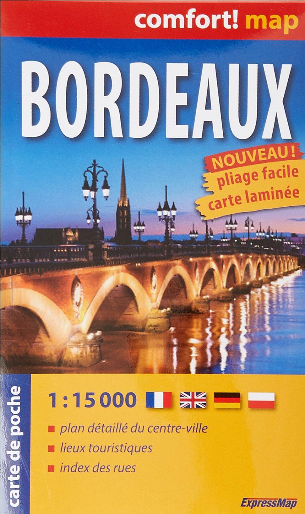 Bordeaux : 1/15 000 (Anglais) Carte – 5 janvier 2018 Express Map Expressmap 8380463471 Karten / Stadtpläne / Europa