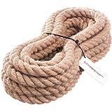 10m 14mm -- JUTESEIL Naturfasern gedreht Tauwerk Hanf Jute Tau Seil Tauziehen Absperrseil Handlauf