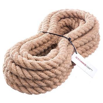 50m 10mm cuerda de yute hilos naturales trenzados cordaje camo yute cuerda tender cuerdas - Cuerda De Yute