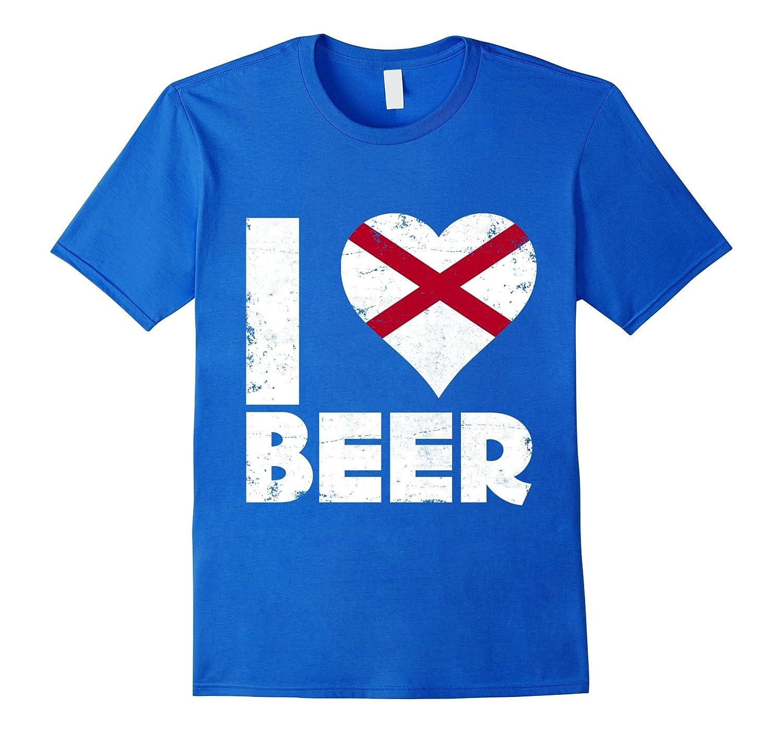 I Heart Alabama Beer State Flag Pride Drinking Home Love Tee-Teehay