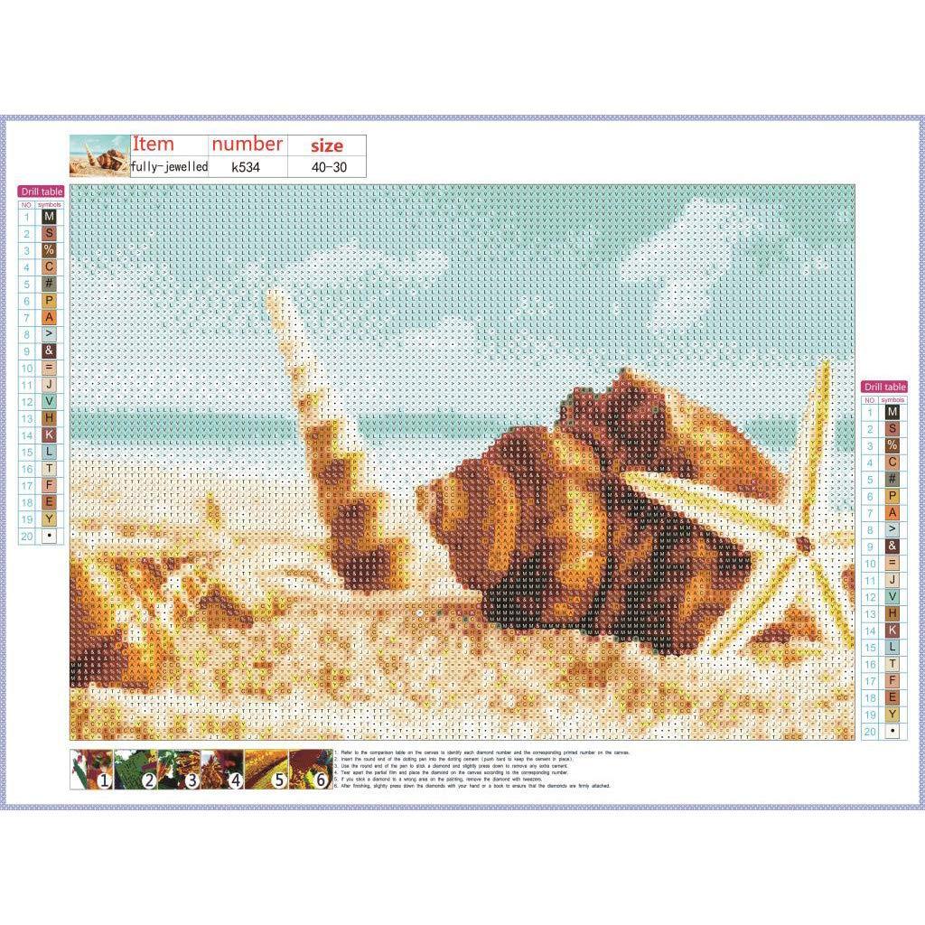 Qinmm Beach Shell 5d Diamant malerei Kits Bohren voll Diamant Stickerei wanddekoration