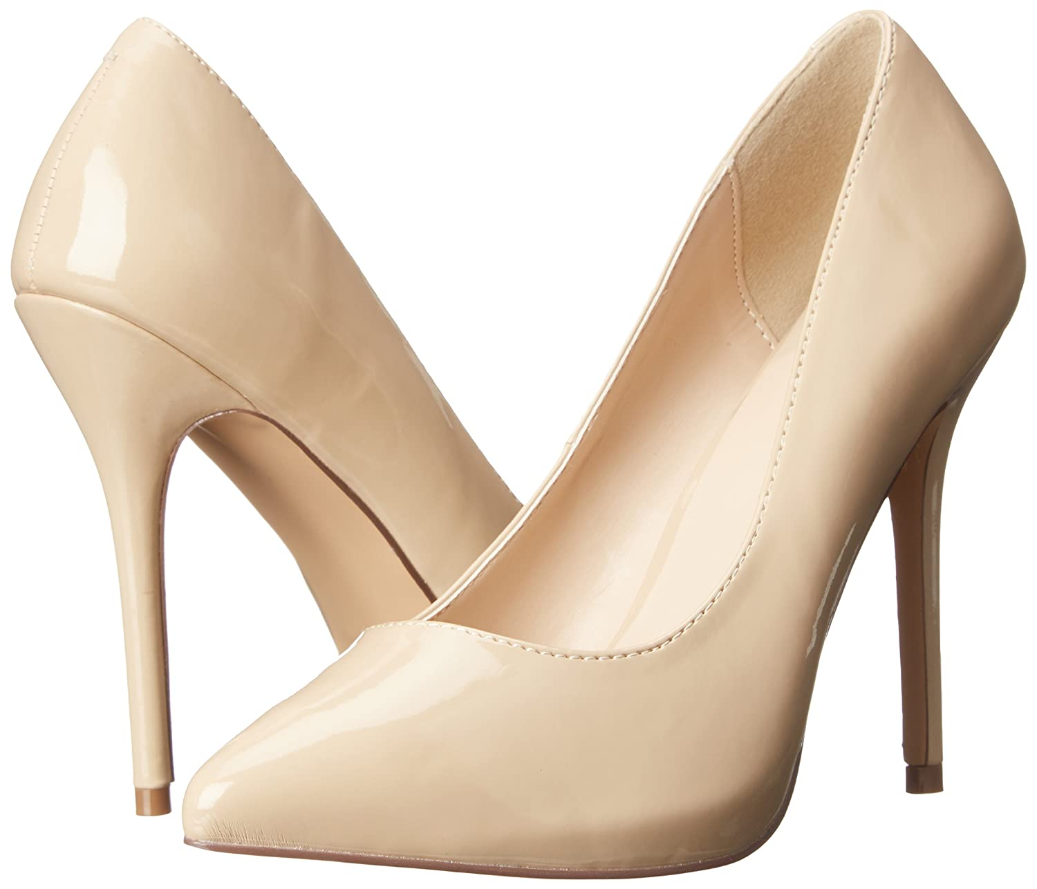 Pleaser AMUSE-20, Damen Pumps, Plateau Pumps, Damen Beige (Cremefarben (Cream Pat)), 43 EU (10 UK)(13 US) - 6e5af0