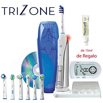 Oral B TRIUMPH 5000 TRIZONE, cepillo de dientes eléctrico + Dvd higuiene buco dental + 7 Recambios: Amazon.es: Salud y cuidado personal