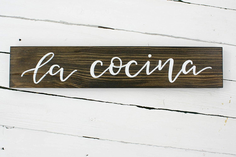 prz0vprz0v La Cocina Cartel de Madera reciclada - Letrero de ...