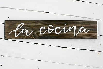 Amazon Com Venu67hol La Cocina Reclaimed Wood Plaque Sign Hand