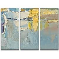 Paul Sinus Art Quadro di qualità, Dipinto a Olio con pennelli in Colori Freddi, Stampa su Tela già Tesa