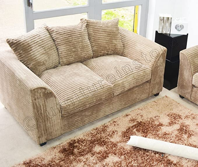 Amazon.com: Dylan Byron tela caramelo Jumbo sofá sofá sofá 2 ...