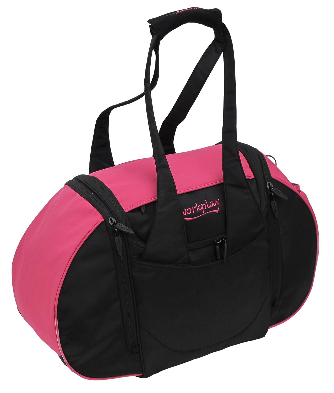 Workplay Goddess III Ladies Gym Bag with Washbag and Laundry Compartment B00IGTUKXO Pink / Black