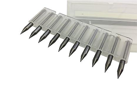 10pcs//box 3.175mm PCB Engraving Bits CNC Router Tool 10-30° 0.1mm 0.2mm V-Shap