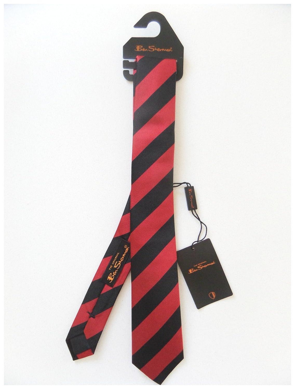 Ben Sherman - Corbata - para hombre Negro negro/rojo Estándar ...