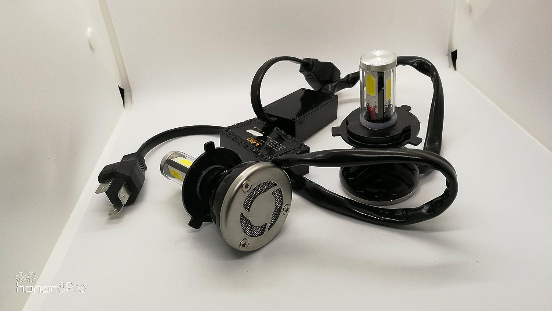 Led Headlight 4 Sided 40w X 2 8000lm 6500k Purewhite 2pcs H4 9005 9006 Relay Wiring Diagram Car Motorbike