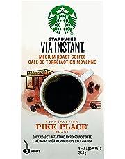 Starbucks Via Instant Pike Place Medium Roast Coffee, 8 Count