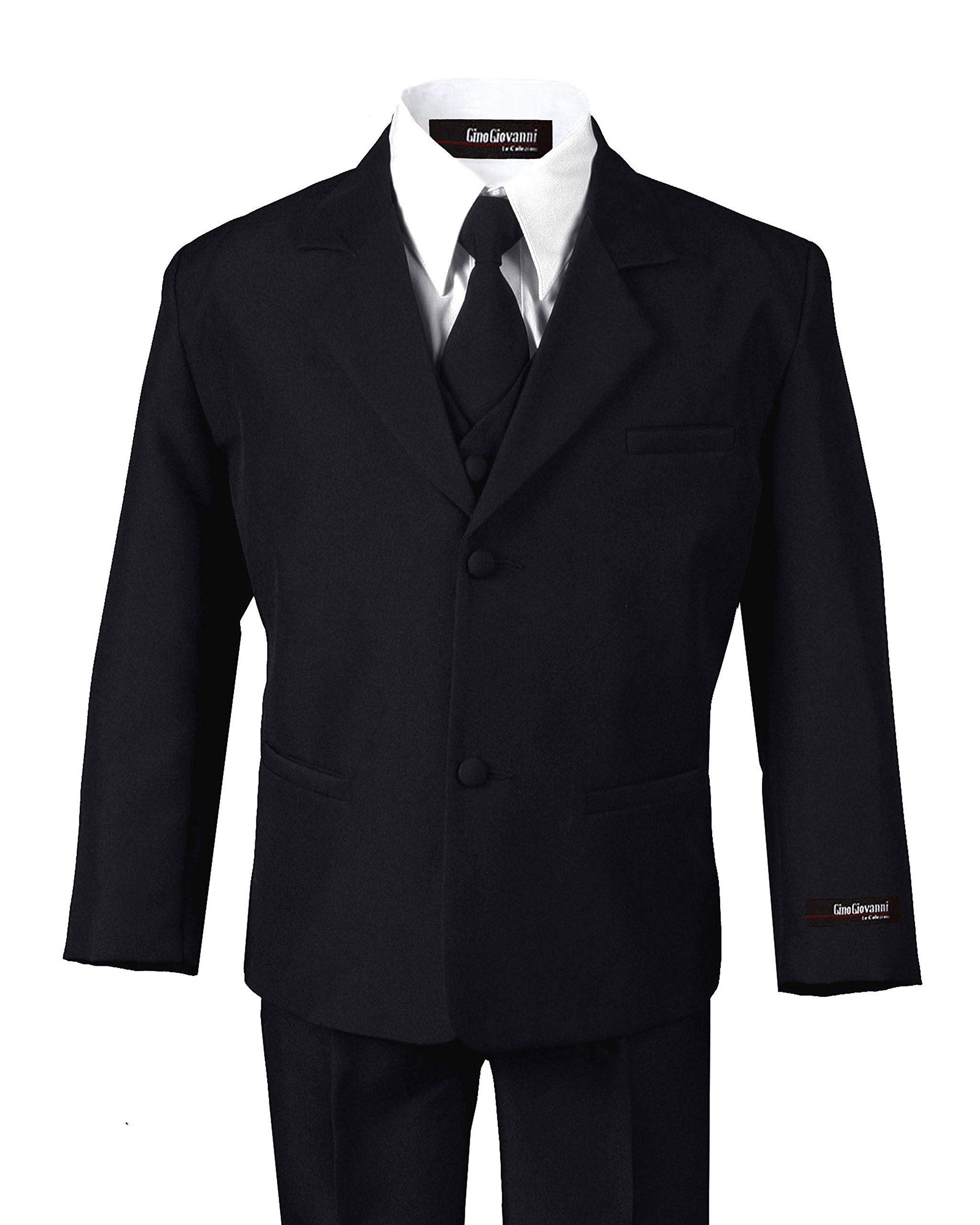 US Fairytailes Formal Boy Black Suit from Baby to Teen (12)