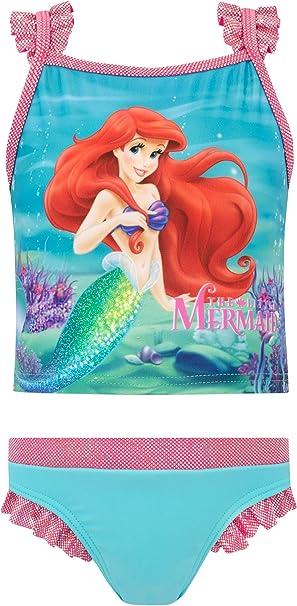 Ragazze Disney Sirenetta Ariel Costume da Bagno Nuoto Costume da Bagno